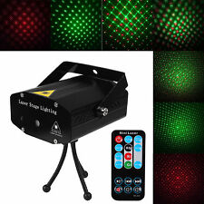 Laser Projector Stage Light Mini LED R&G Lighting Party DJ Disco KTV Show Remote