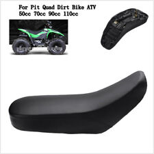 Black ATV Foam Seat For 50 70 90 110cc Racing Style Quad Dirt Bike ATV 4-Wheeler