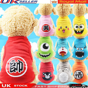 Cute Pet Dog Small Cat T-Shirts Clothes for Puppy Chihuahua Summer Vest k/u