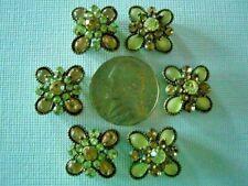 2 Hole Slider Beads Flower Smoked Topaz Crystal Swarovski Elements 6 Pieces
