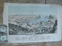 HIGHLY DETAILED Antique 1855 Hand Colored PRINT, SIEGE OF SEBASTOPOL, Russia