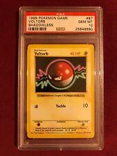 PSA 10 Shadowless Voltorb Pokemon Card, rare