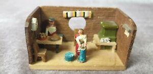 Miniatur Puppenstube Erzgebirge für die Puppenstube
