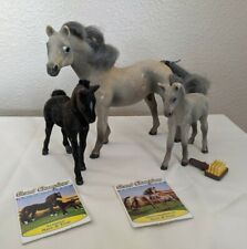 Vintage 1993 Velvet Grand Champions Horse Set Thoroughbred Mare & Foal +Arabian