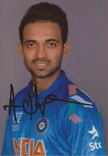 INDIA: AJINKYA RAHANE SIGNED 6x4 PORTRAIT PHOTO+COA