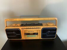 Sony Sports Boombox CFS-930 AM/FM Stereo Cassette Player Yellow Water Resistant