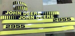 JOHN DEERE 2955 HOOD DECALS. GREAT QUALITY.