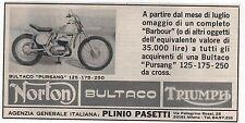 Pubblicità epoca MOTO BULTACO PURSANG NORTON TRIUMPH advert werbung publicitè