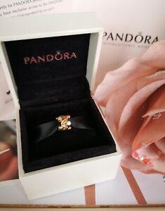 AUTHENTIC PANDORA 14ct 14k SOLID GOLD ETERNAL FRUIT & DIAMOND CHARM 750435D RARE