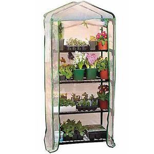 4 Shelves Tier  Greenhouse green house grow Roll Up Door Zip  Cover Great Value!
