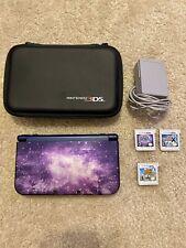 Nintendo 3DS XL Galaxy + 3 Games Pokemon Animal Crossing