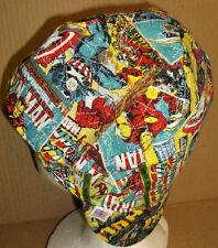 Comic Book Covers Handmade 100% cotton, Welder, Biker, pipefitter,4 panel hat