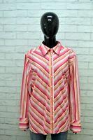 TOMMY HILFIGER Camicia Donna Taglia 2XL Maglia Camicetta a Righe Shirt Women's