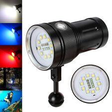 Photography Video 12000LM 10xXM-L2+4xRed+4xBlue LED SCUBA Diving Flashlight Lamp
