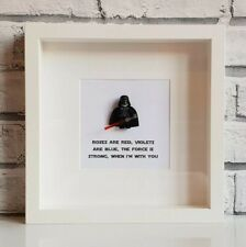 Star Wars Mini Figure Love Frame | Pick your Figure & Quote (Valentines | Lego)