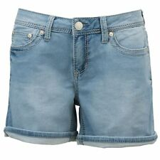 Seven7 Women's Cuffed  Denim Short with Embroidered Loop Pockets SZ.16 MSRP: $49