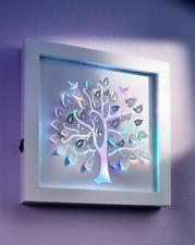 LED-Wandbild Lebensbaum beleuchtet mit 11 Farbwechsel-LEDs Scherenschnitt-Stil