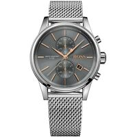Hugo Boss Grey Mens Watch Analogue Quartz Stainless Steel Silver HB1513440