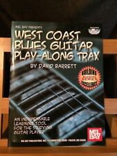 David Barrett West Coast blues guitar play-along trax partition 2 cd Mel bay
