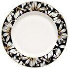 Greengate Plate Florette Black Gate Noir Diner Plate 25 CM Porcelain Flowers