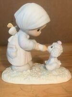 Precious Moments Figurine PM-871 Feed My Sheep Collector's Club 1987