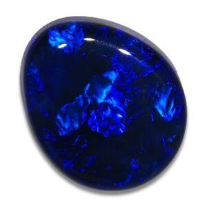 0.53 ct Schwarzer Opal aus Lightning Ridge - Australien mit Farbe Blau Edelopal