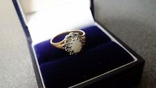 9 Carat Gold Ring Opal  Surrounded with Diamonds
