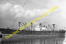 MRS-E0007 - Photo of Historian Cargo Ship at Runcorn on Manchester Ship Canal