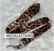 Zebra / Leopard Lanyard Strap with clip for USB, Key, Phone, Name ID Card Tag