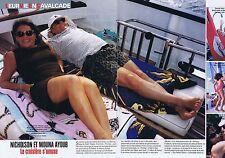 Coupure de presse Clipping 1999 Jack Nicholson & Mouna Ayub  (2 pages)
