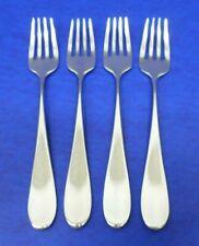 """4 - Dansk CLASSIQUE Satin 18/8 Stainless KOREA Flatware 7 1/4"""" DINNER FORKS"""