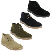 Roamers 2 Eye Desert Boots Mens Boys Real Suede Leather M400 Round Toe UK3-12