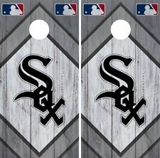 Chicago White Sox Cornhole Wrap MLB Vintage Game Skin Set Vinyl Decal CO382