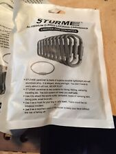STURME Carabiner Clip Aluminum D-Ring Locking Strong and Light Large Lot Of (6)