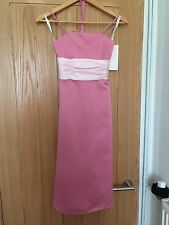 Forever Yours 77201 Rose/baby Pink Bridesmaid Dresses 1x Age 14 New