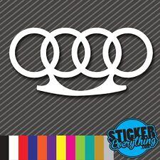 AUDI BRASS KNUCKLES VINYL DECAL STICKER EURO Fits AUDI VW LOW ILL A4 S4 A6 FRESH