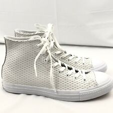 CONVERSE All Star Leather High White Out PACK White Gold 153115C Sz 8.5 08a7b40801a