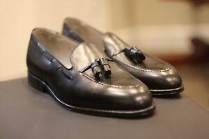 Alden 660 Black Leather Tassel Moccasins Loafers Shoes New US Made Size 11.5 EEE