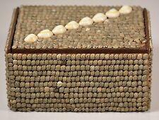 Sailors Valentine Victorian Seashell Jewelry, Tricket, Treasure Box, Nice & Old!