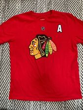 Chicago Black Hawks Number 2 Keith Short Sleeve Red Top Biys Size 18 XL