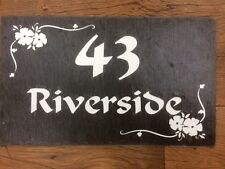 Engraved Plaques In Slate House Name  address number Road Name personalised  Etc