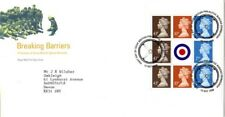 13 OCTOBER 1998 BREAKING BARRIERS PANE RM FDC WRONG SPELLING PHILALETIC SHS