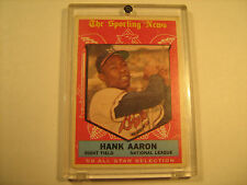 """Topps HANK AARON 1960 """"The Sporting News"""" '59 All Star Selection [b4a1]"""