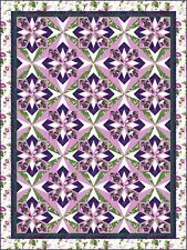 New Paper Pieced Quilt Pattern PERPETUAL 3 Size Options