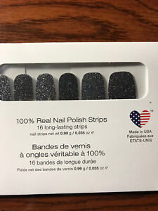 COLOR STREET Nail Strips MIND MATTERS Brain Cancer Awareness Dark Gray Glitter