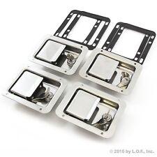 "4) Toolbox Lock Stainless Door Paddle Handle Trailer RV Latch Key Big 5.5"" 4.25"""