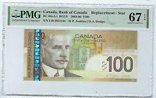 CANADA 2003 100 DOLLARS  BC-66aA-i Replacement PMG 67 EPQ Prefix EJE