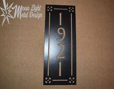 Address Sign Arts and Crafts Metal Address Sign 2, 3 or 4 Number Vertical Black
