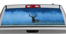 Truck Rear Window Decal Graphic [Wildlife / Elk in Fog] 20x65in DC49107