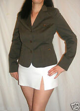 Women Grey Jacket Tailored Stripped Stretch quality by TopShop Size 12